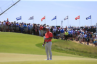 Paul Casey (ENG) on the 9th green during Saturday's Round 3 of the 118th U.S. Open Championship 2018, held at Shinnecock Hills Club, Southampton, New Jersey, USA. 16th June 2018.<br /> Picture: Eoin Clarke | Golffile<br /> <br /> <br /> All photos usage must carry mandatory copyright credit (&copy; Golffile | Eoin Clarke)