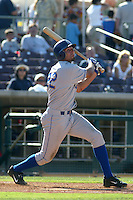 Nick Gorneault of the Rancho Cucamonga Quakes bats during a game against the Inland Empire 66ers at Stater Bros Stadium on July 4, 2003 in San Bernardino, California. (Larry Goren/Four Seam Images)