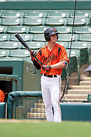 GCL Orioles right fielder Will Robertson (11) on deck during a game against the GCL Rays on July 21, 2017 at Ed Smith Stadium in Sarasota, Florida.  GCL Orioles defeated the GCL Rays 9-0.  (Mike Janes/Four Seam Images)