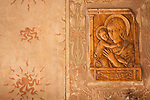 A Virgin Mary plaque in Como, Italy