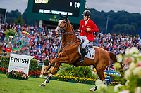 GER-Marcus Ehning rides Funky Fred during the Mercedes-Benz CSIO5* Nationenpreis. 2019 GER-CHIO Aachen Weltfest des Pferdesports. Thursday 18 July. Copyright Photo: Libby Law Photography