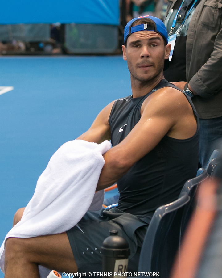 RAFA NADAL PRACTICE<br /> <br /> BRISBANE INTERNATIONAL, PAT RAFTER ARENA, BRISBANE TENNIS CENTRE, BRISBANE, QUEENSLAND, AUSTRALIA, <br /> &copy; TENNIS PHOTO NETWORK