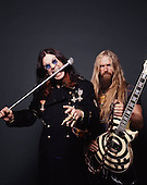 OZZY OSBOURNE AND ZAKK WYLDE,  STUDIO, 2001, NEIL ZLOZOWER