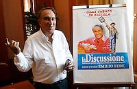 """20130625: ROMA-POLITICA: EMILIO FEDE NUOVO DIRETTORE DEL SETTIMANALE """"LA DISCUSSIONE"""""""