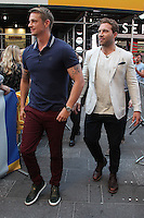 NEW YORK, NY - JULY 28: Joel Kinnaman and Jai Courtney visit 'Good Morning America' to promote the movie 'Suicide Squad'  in New York, New York on July 28, 2016.  Photo Credit: Rainmaker Photo/MediaPunch