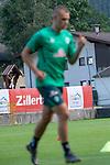 04.07.2019, Parkstadion, Zell am Ziller, AUT, TL Werder Bremen - Tag 00<br /> <br /> im Bild / picture shows 1. Training im TL Zillertal am Mittwoch abend<br /> <br /> Feature #zillertal <br /> Felix Beijmo (Werder Bremen #02) unscharf wischer<br /> Foto © nordphoto / Kokenge