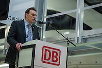 Am Freitag den 29. Januar 2016 wurde nach drei Jahren Umbauzeit eine neue Triebzughalle fuer ICE-Zuege auf dem Gelaende des Bahnbetriebswerk in Berlin-Rummelsburg eroeffnet.<br /> Die in den 1980er Jahren gebaute Wartungshalle wurde auf 380 Meter verlaengert und der komplette Hallenboden um einen Meter abgesenkt, um zwei 370 Meter lange Gleisbereiche einbauen zu koennenauf denen ICE-Zuege zeitgleich in vier unabhaengigen Arbeitsebenen instandgehalten werden. In Sachen Umweltschutz sorgen die neue Heizungs- und Beleuchtungsanlage sowie die neue Waermedaemmung fuer hohe Energieeinsparungen. Alle betriebswichtigen technischen Anlagen und Einrichtungen sind in den Betriebsfuehrungsrechner des Werks eingebunden. Damit ist es den Mitarbeiterinnen und Mitarbeitern der Leitstelle moeglich, jederzeit alle wichtigen Informationen zum Zug und zu den aktuellen Arbeiten im Blick zu haben. Die Gesamtkosten der neuen Anlage belaufen sich auf rund 40 Millionen Euro. Die Halle wird soll im Maerz 2016 nach der Betriebserprobung und dem Abschluss aller Bauarbeiten in Betrieb gehen.<br /> Im Bild: Jens Homeyer, Betriebsleiter des Standort ICE-Werk Berlin-Rummelsburg.<br /> 27.1.2016, Berlin<br /> Copyright: Christian-Ditsch.de<br /> [Inhaltsveraendernde Manipulation des Fotos nur nach ausdruecklicher Genehmigung des Fotografen. Vereinbarungen ueber Abtretung von Persoenlichkeitsrechten/Model Release der abgebildeten Person/Personen liegen nicht vor. NO MODEL RELEASE! Nur fuer Redaktionelle Zwecke. Don't publish without copyright Christian-Ditsch.de, Veroeffentlichung nur mit Fotografennennung, sowie gegen Honorar, MwSt. und Beleg. Konto: I N G - D i B a, IBAN DE58500105175400192269, BIC INGDDEFFXXX, Kontakt: post@christian-ditsch.de<br /> Bei der Bearbeitung der Dateiinformationen darf die Urheberkennzeichnung in den EXIF- und  IPTC-Daten nicht entfernt werden, diese sind in digitalen Medien nach §95c UrhG rechtlich geschuetzt. Der Urhebervermerk wird gemaess §13 UrhG verlangt.]