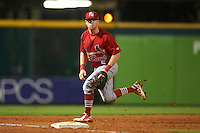 Palm Beach Cardinals third baseman Andrew Sohn (5) during a game against the Bradenton Marauders on August 9, 2016 at McKechnie Field in Bradenton, Florida.  Bradenton defeated Palm Beach 8-7.  (Mike Janes/Four Seam Images)