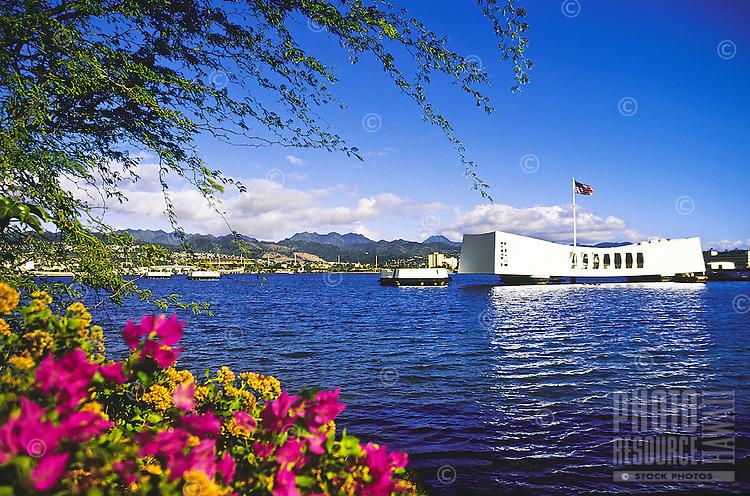 Arizona memorial, Pearl Harbor, Island of Oahu