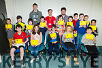 COMPUTER CAMP: Enjoying the Kerry Coder Dojo at Kerry Technology Park on Saturday with their awards were Core Programing Yellow, intermediate 8 to12  Front l-r Christopher Boyle, Rosie Kennelly, Timmy McElligott, Dara McElligott, Peter Doyle, Back Louis Py, Luke Flynn, Charlie Kennelly, Samuel Regan, Eoghan White, Brendan Linnane, Eoin Ladden, Oisin O'Carroll, Tomas Ahern, Jack Doyle  with mentors John Joe Landers, Conor Horgan, Luke Bluette