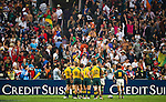 Australia play South Africa in the Plate final on Day 3 of the 2011 Cathay Pacific / Credit Suisse Hong Kong Rugby Sevens, Hong Kong Stadium. Photo by Victor Fraile / Credit Suisse