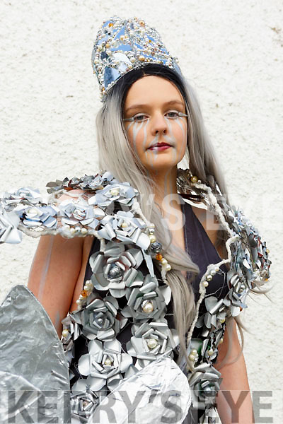 Lucy Setterfield (Designer/Model) representing the Castleisland Community College in the upcoming Junk Kouture Southern finals