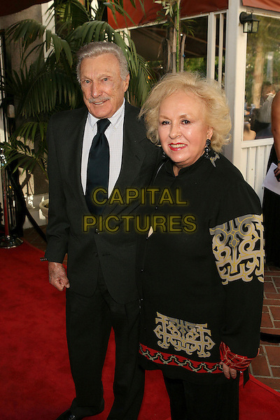 WARREN STEVENS & DORIS ROBERTS.Red Buttons: A Celebration of Life and Laughter - Arrivals held at the Century Club, Century City, California, USA..August 7th, 2006.Photo: Zach Lipp/AdMedia/Capital Pictures.Ref: ADM/ZL.full length grey gray suit black.www.capitalpictures.com.sales@capitalpictures.com.©Zach Lipp/AdMedia/Capital Pictures.