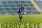 Denis Daly Kerry in action against  Limerick in the Final of the McGrath Cup at the Gaelic Grounds on Sunday.
