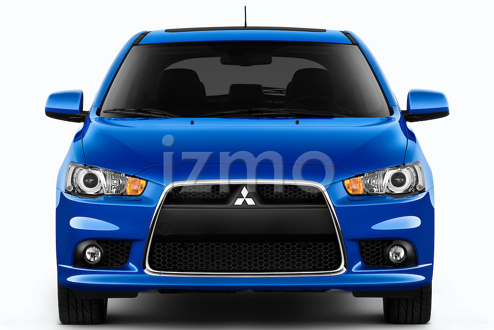Straight front view of a 2012 Mitsubishi Lancer Sportback GT