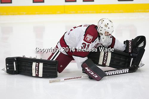 Merrick Madsen (Harvard - 31) - The Harvard University Crimson tied the visiting Dartmouth College Big Green 3-3 in both team's first game of the season on Saturday, November 1, 2014, at Bright-Landry Hockey Center in Cambridge, Massachusetts.