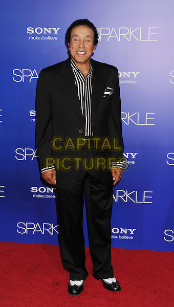 Smokey Robinson.World Premiere of 'SPARKLE' held at The Grauman's Chinese Theatre in Hollywood, California, USA..August 16th, 2012.full length suit shirt black white stripe .CAP/ROT/TM.©Tony Michaels/Roth Stock/Capital Pictures