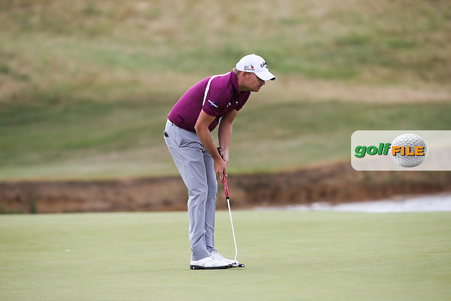 James Morrison (ENG) putting on the second green during the Final Round of the 2015 Alstom Open de France, played at Le Golf National, Saint-Quentin-En-Yvelines, Paris, France. /05/07/2015/. Picture: Golffile | David Lloyd<br /> <br /> All photos usage must carry mandatory copyright credit (&copy; Golffile | David Lloyd)