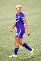 Orlando, Florida - Saturday, April 23, 2016: Orlando Pride forward Lianne Sanderson (10) during an NWSL match between Orlando Pride and Houston Dash at the Orlando Citrus Bowl.