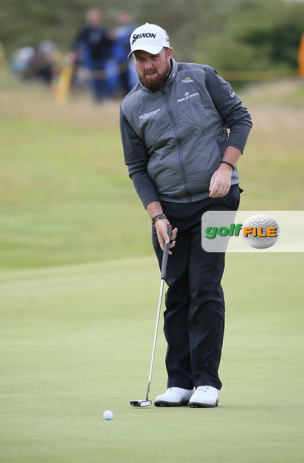 Shane Lowry (IRL) at the 4th  during Thursday's Round One at The 146th Open played at Royal Birkdale, Southport, England.  20/07/2017. Picture: David Lloyd | Golffile.<br /> <br /> Images must display mandatory copyright credit - (Copyright: David Lloyd | Golffile).