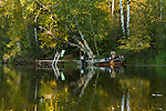 Boat & pier on the East Fork of the Chippewa River