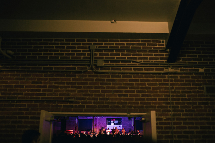 Durham, North Carolina - Friday May 6, 2016 - Kamasi Washington and his band perform in the Armory in Durham Friday night during the Art of Cool Festival.
