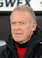 Swansea manager Alan Curtis during the Barclays Premier League match between Swansea City and Watford at the Liberty Stadium, Swansea on January 18 2016