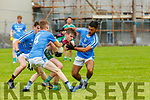 Listry Barry Keane is swarmed by the Firies players Darragh Donohue10 Brian O'Leary4 and Shane Burke 7  during their JFC clash in Kilcummin on Sunday