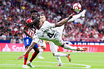 Atletico de Madrid Thomas Teye and SD Huesca Ruben Semedo during La Liga match between Atletico de Madrid and SD Huesca at Wanda Metropolitano Stadium in Madrid, Spain. September 25, 2018. (ALTERPHOTOS/Borja B.Hojas)