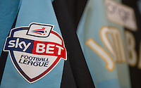 Sky Bet Football League badge on display during the Sky Bet League 2 match between Wycombe Wanderers and Luton Town at Adams Park, High Wycombe, England on 6 February 2016. Photo by Massimo Martino / PRiME Media Images.