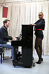 Kevin David Thomas and Brenda Braxton during the rehearsal for 'And The World Goes 'Round' - The Abingdon Theatre Company's 25th Anniversary Gala at the Pearl Studios on October 16, 2017 in New York City.