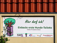 Hunde-Toilette in Einbeck, Niedersachsen, Deutschland, Europa<br /> dogs toilet in Einbeck, Lower Saxony, Germany, Europe