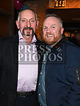 St Colmcilles President Pat Haigney and Darren Ryan from Southgate Barbers at the Movember event in the d hotel. Photo:Colin Bell/pressphotos.ie