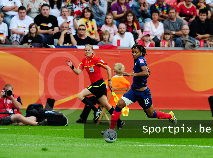 Fifa Women's World Cup Germany 2011 : England - France - at Leverkusen : Elodie Thomis.foto DAVID CATRY / Vrouwenteam.be