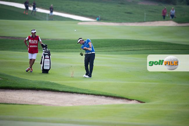 Ricardo Gouveia (POR) on the 18th during the final round of the Abu Dhabi HSBC Championship, Abu Dhabi Golf Club, Abu Dhabi,  United Arab Emirates. 22/01/2017<br /> Picture: Golffile | Fran Caffrey<br /> <br /> <br /> All photo usage must carry mandatory copyright credit (&copy; Golffile | Fran Caffrey)