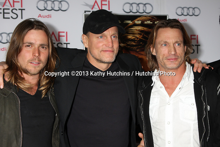 """LOS ANGELES - NOV 9:  Woody Harrelson, Brett Harrelson, guests at the AFI FEST 2013 Presented By Audi - """"Out Of The Furnace"""" Premiere at TCL Chinese Theater on November 9, 2013 in Los Angeles, CA"""