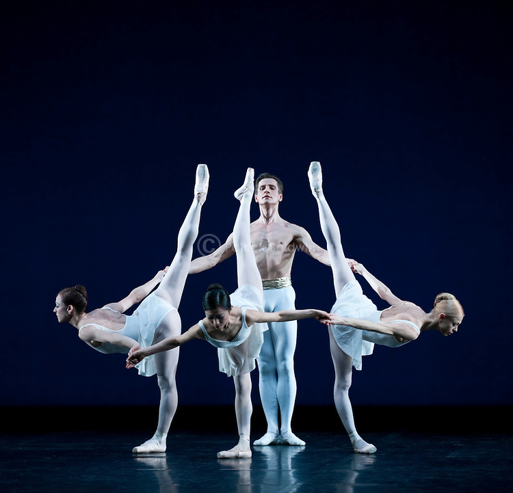 "English National Ballet. ""Celebration"". Thomas Edur and Agnes Oaks gala performance at Sadlers Wells in tribute to their carreer. ""Apollo"". Choreographer: George Balanchine."