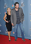 "Blake Shelton and wife Miranda Lambert arriving at the premiere of ""The Voice"" Season 4, held at the TCL Chinese Theatre in Los Angeles, CA. March 20, 2013"