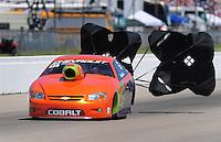 May 30, 2009; Topeka, KS, USA: NHRA pro stock driver Dave River during qualifying for the Summer Nationals at Heartland Park Topeka. Mandatory Credit: Mark J. Rebilas-