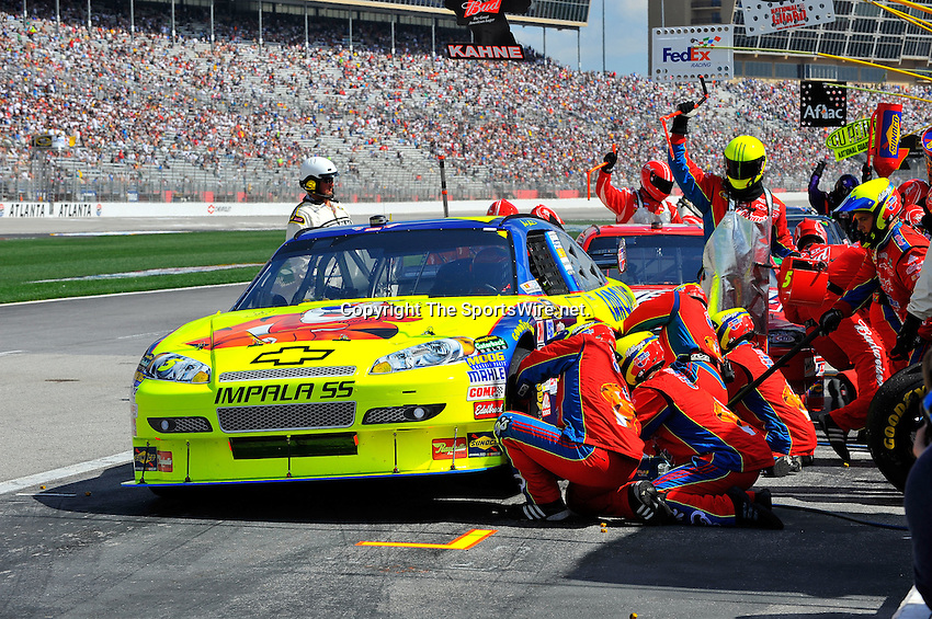 Mar 08, 2009; 1:31:25 PM; Hampton, GA, USA; NASCAR Sprint Cup Series race for the Kobalt Tools 500 at the Atlanta Motor Speedway.  Mandatory Credit: (thesportswire.net)