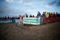 19 yr old Mathieu Vanderpoel (NLD/BKCP-Powerplus) racing the Elite Mens race is the current (at that time) Superprestige Overall Leader <br /> <br /> GP Zonhoven 2014