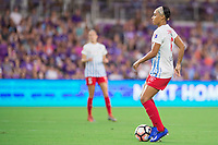 Orlando, FL - Saturday August 05, 2017: Samantha Johnson during a regular season National Women's Soccer League (NWSL) match between the Orlando Pride and the Chicago Red Stars at Orlando City Stadium.