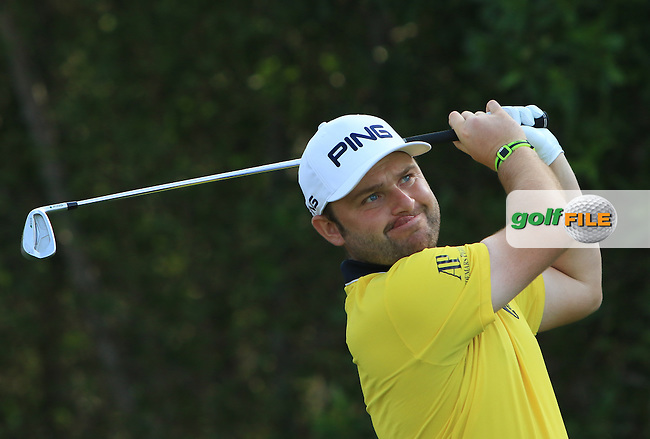Andy Sullivan (ENG) on the 4th tee during Round 4 of the Abu Dhabi HSBC Championship on Sunday 22nd January 2017.<br /> Picture:  Thos Caffrey / Golffile<br /> <br /> All photo usage must carry mandatory copyright credit     (&copy; Golffile   Thos Caffrey)