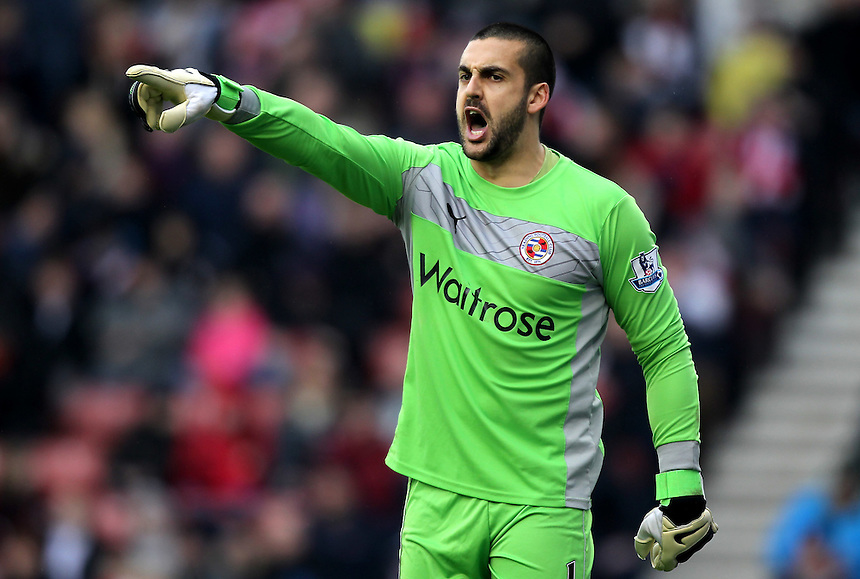 Reading's Adam Federici ..Football - Barclays Premiership - Stoke City v Reading - Saturday 9th February 2013 - Britannia Stadium - Stoke..