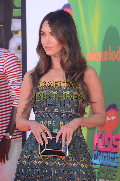 17 July 2014 - Los Angeles, California - Megan Fox. Arrivals for the Nickelodeon Kids' Choice Sports Awards 2014 held at UCLA's Pauley Pavilion in Los Angeles, Ca.  <br /> CAP/ADM/BT<br /> &copy;Birdie Thompson/AdMedia/Capital Pictures