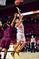 College Park, MD - NOV 16, 2016: Maryland Terrapins center Brionna Jones (42) makes a strong move to the basket during game between Maryland and Maryland Eastern Shore Lady Hawks at XFINITY Center in College Park, MD. The Terps defeated the Lady Hawks 106-61. (Photo by Phil Peters/Media Images International)
