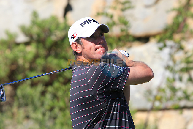 Lee Westwood (ENG) tees off on the 6th tee during the morning session on Day 3 of the Volvo World Match Play Championship in Finca Cortesin, Casares, Spain, 21st May 2011. (Photo Eoin Clarke/Golffile 2011)