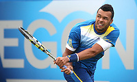 13.06.13 London, England. Jo-Wilfried Tsonga in action against Edouard Roger-Vasselin during the The Aegon Championships from the The Queen's Club in West Kensington.