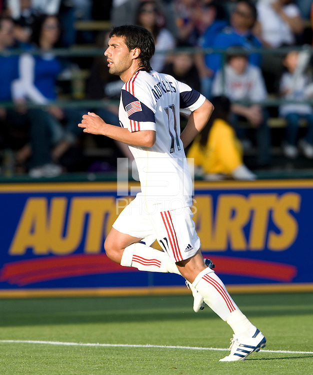 Javier Morales of Real Salt Lake in action during the game against the Earthquakes at Buck Shaw Stadium in Santa Clara, California on March 27th, 2010.   Real Salt Lake defeated San Jose Earthquakes, 3-0.