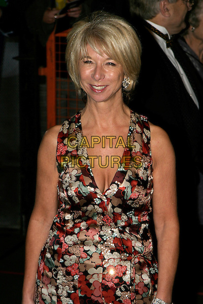 HELEN WORTH.National Television Awards 2005 at the Royal Albert Hall, SW7, London, UK..October 25th, 2005.Ref: AH.half length cleavage red floral print.www.capitalpictures.com.sales@capitalpictures.com.© Capital Pictures.